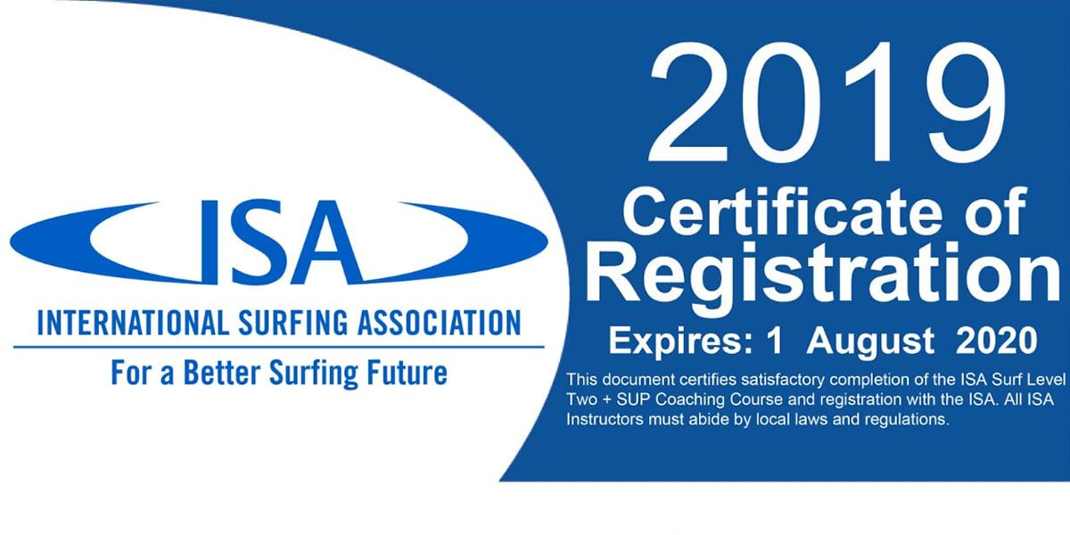 certificate of registration ISA
