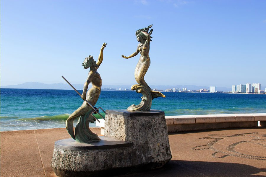 Sculpture Mermaid Statue Puerto Vallarta