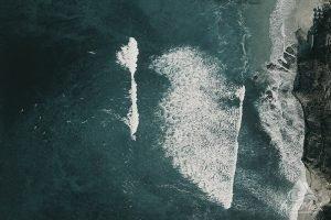 Aerial view of La Bahia surf break in Punta Mita