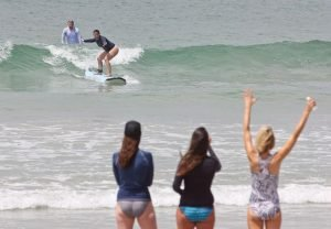 Family Surfing in La Lancha, Punta Mita
