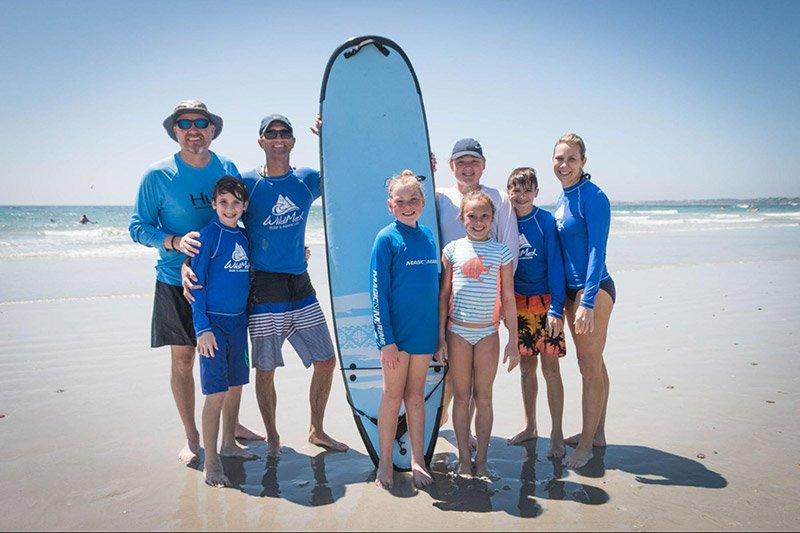 Family Surfing In La Lancha Summer 2021