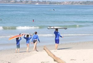 Learning to surf in Mexico with your family