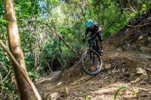 Mountain biking in the jungle