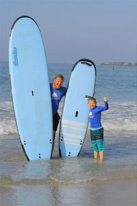 Surfboard rental in Punta Mita for families