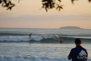 The best time to surf Punta Mita? Sunset ofc!