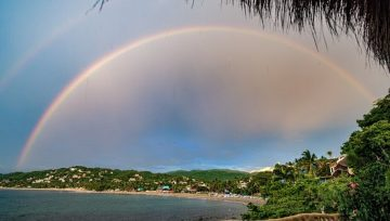 Find Your Happiness In Rainbows, Surfing Banderas Bay